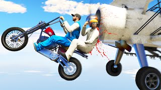 KILLER PLANES vs. BIKERS! (GTA 5 Funny Moments)