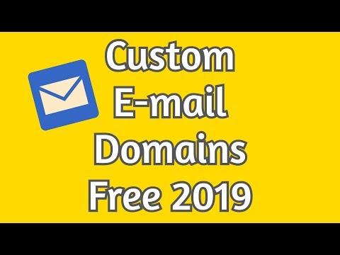 How To Create Custom Email Domain Free - 2019