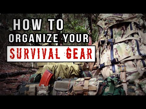 How To: Organize Your Survival Kit   Bug Out Bag With The Line System #tacticalgear #bugoutbag