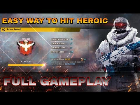 Free Fire Heroic Ranked Gameplay Tips And Trick To Hit Heroic In Ff