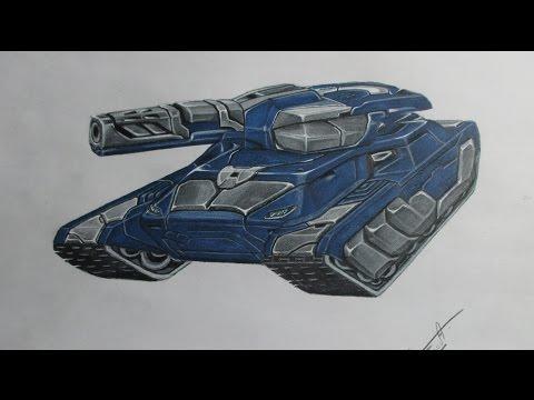 Танки Онлайн - Как нарисовать Гром & Викинг М3 (TankiOnline - Drawing)
