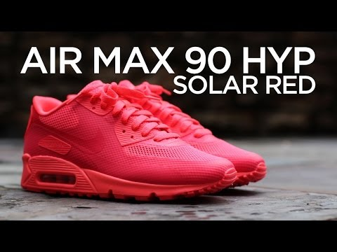 a7b0a0c7 Closer Look: Nike Air Max 90 Hyperfuse - Solar Red - YouTube