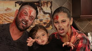 Zombie Family Transformation with JWOWW, Roger & Meilani!