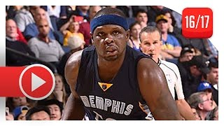 Zach Randolph Full Highlights vs Warriors (2017.01.06) - 27 Pts, 11 Reb, 6 Ast, BEAST MODE!