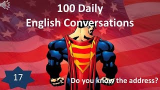 Daily English Conversation 17: Do you know the address?