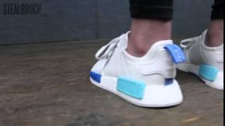 Adidas NMD R1 W White Blue Glow - YouTube