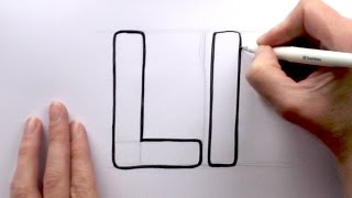 How to Draw a Cartoon Letter L and l