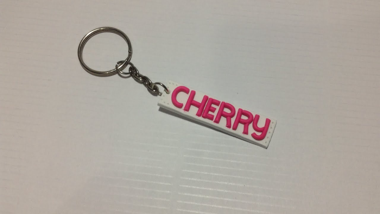 How To Make Personalized Polyclay Name Keychain Diy Style