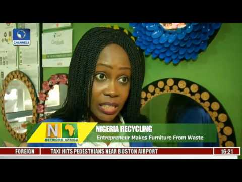 Network Africa  Olamide Babajide Converts Wastes Into Household Furniture