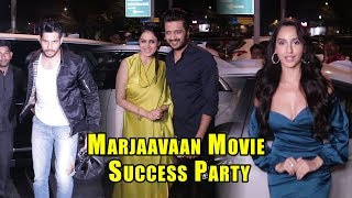 marjaavaan-movie-success-party-with-sidharth-malhotra-and-riteish-deshmukh