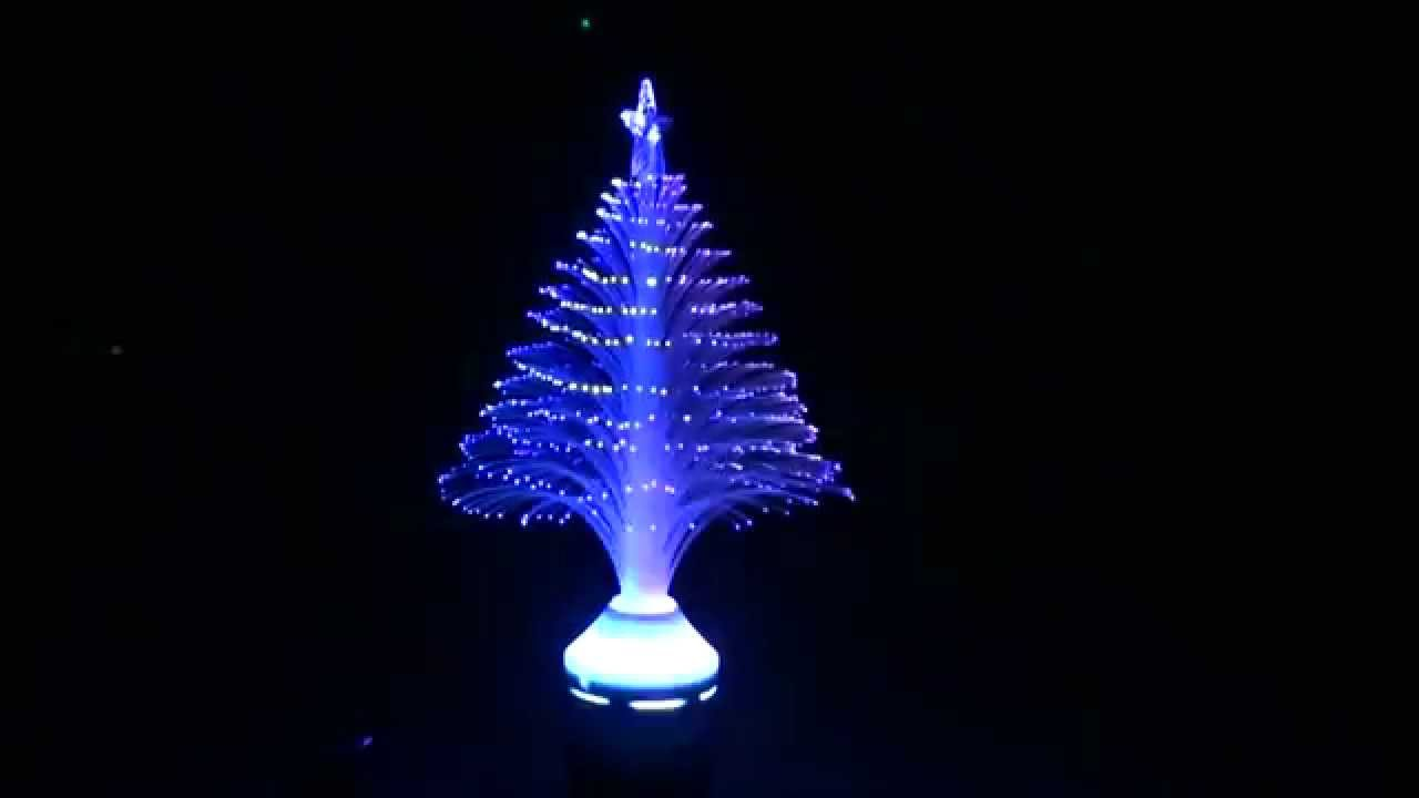 3w e27 led full color fiber optic lamp night light youtube - Christmas Tree Night Light