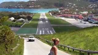 sbh landing st barths gustaf iii airport