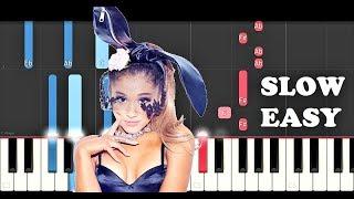 Ariana Grande - 7 Rings (SLOW EASY PIANO TUTORIAL)