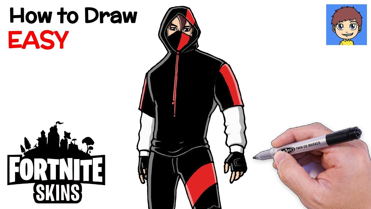 How to Draw Fortnite IKONIK Skin Step by Step - Fortnite ...