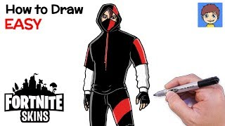 How to Draw Fortnite IKONIK Skin Step by Step - Fortnite Skins Drawing