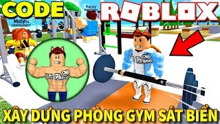 Roblox | KIA BUILT GYM GYM the BEACH-Gym Island #1 (Code) | Kia Breaking