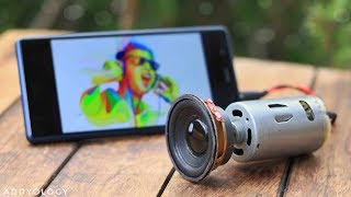 How to Make a Speaker at Home - Using DC Motor