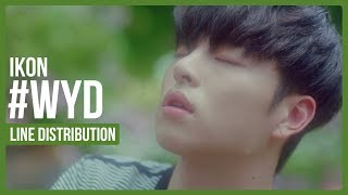 IKON - #WYD Line Distribution (Color Coded)