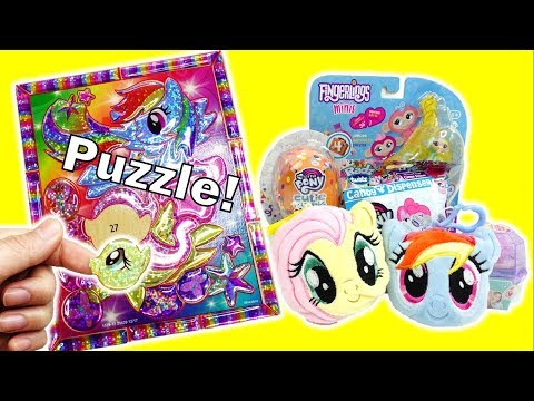 My Little Pony DIY Crystal Masterpiece Puzzle and Surprises - Rainbow Dash and Fluttershy