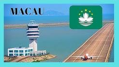 MACAO: Landing ✈️ at the modern International Airport, scenic views! (China)