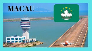 MACAU (MACAO), landing at the modern INTERNATIONAL AIRPORT, CHINA