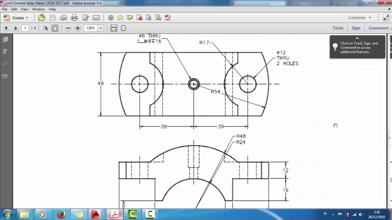 Tutorial Plummer Block Assembly Autocad 2014 Youtube