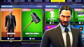 BOUTIQUE JOHN WICK (SKIN, CAMO, EMOTE..) ! Fortnite Battle Royale