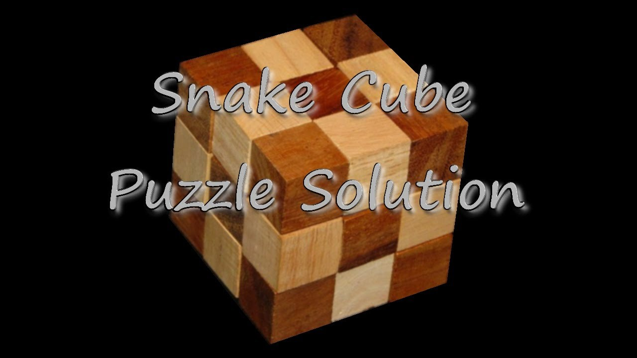 Snake Cube 3x3 Puzzle Solution