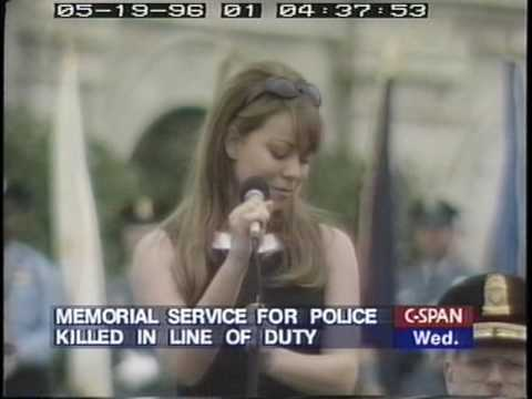 HQ - Mariah Carey - Hero Live -  Peace Officer's Memorial Service, 1996, Singing for Clinton