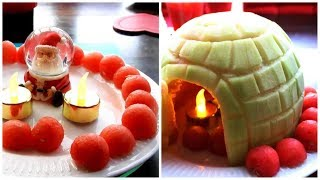 How to Make Watermelon Decoration   Watermelon Art   Fruit Carving Watermelon Garnishes