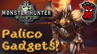 Monster Hunter World: ALLE Palico Gadgets (Fähigkeiten) bekommen! | Gameplay [German Deutsch]