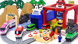Titipo Control Port Play Toy! Let's ride a trailer with Tayo! | PinkyPopTOY