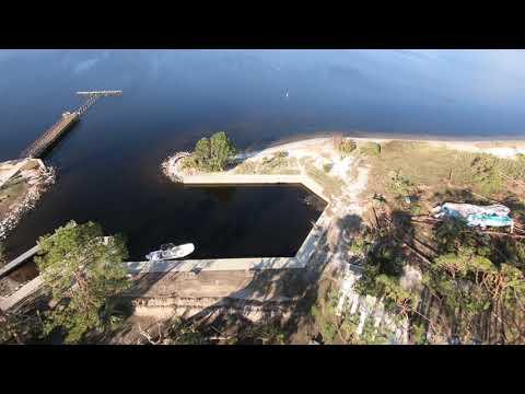 Hurricane Michael drone footage St. Andrew State Park, Panama City Beach