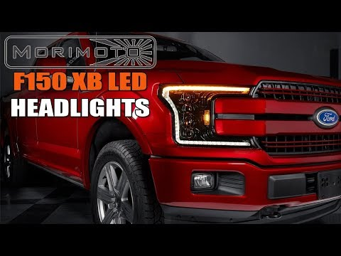 2018+ Ford F150 LED Headlights Morimoto XB Projector with Sequential Turn Signals LF501
