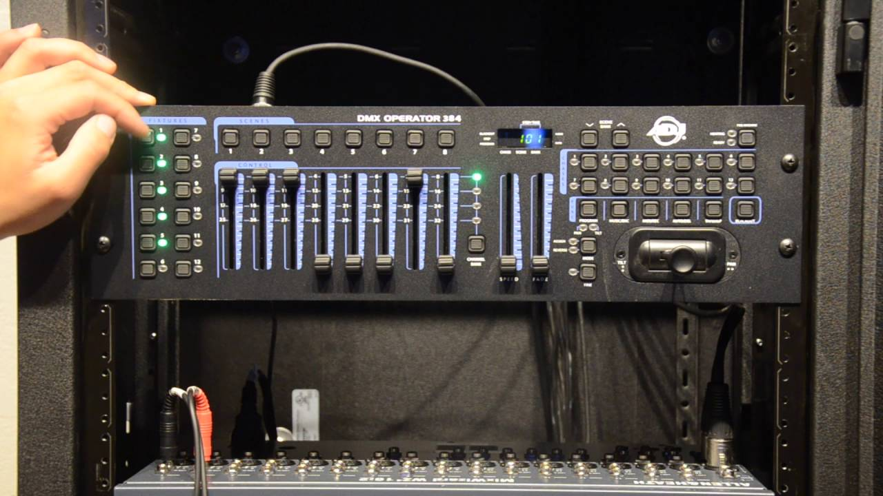 How To Use The American DJ 384 DMX controller