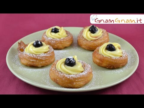 Zeppole di San Giuseppe fritte - Gnam Gnam