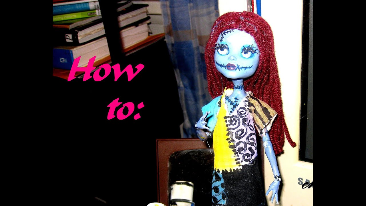 How To: Monster High Sally Doll Repaint, Inspired by Tim Burton's ...