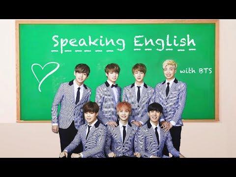 BTS Speaking English Compilation