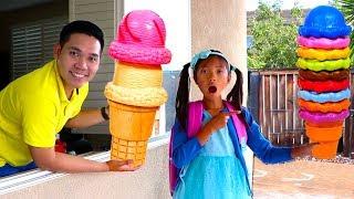 웬디는아이스크림배달드라이브쓰루장난감가게로놀이를합니다