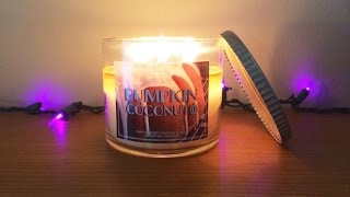 Pumpkin Coconut Candle Review - Bath & Body Works, White Barn Exclusive