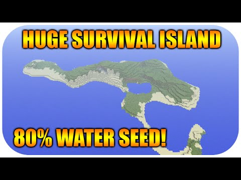 Minecraft Xbox PS HUGE Survival Island Seed At Spawn - Large survival us map
