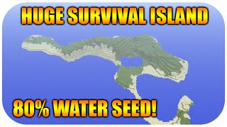 ★Minecraft Xbox 360 + PS3 HUGE Survival Island Seed At Spawn - 80 Percent Water Seed Showcase★