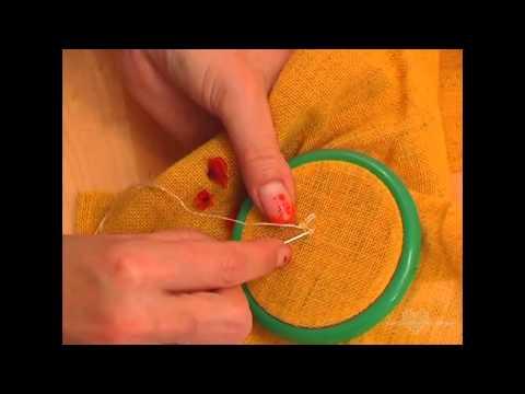 Объемная вышивка ромашки
