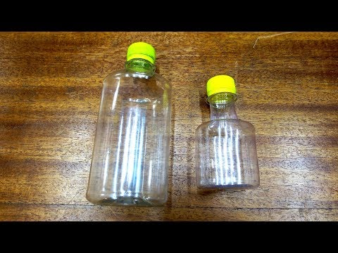 Как сжать пластиковую бутылку