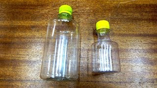 Как уменьшить бутылку - ловкость рук и...