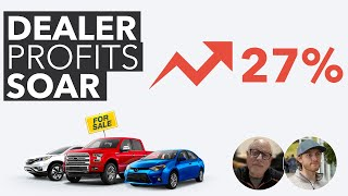 Dealer Used Car Profit up 27% ... Wait to Buy a Used Car! Used Car Car Market Update.