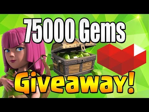 WINNER #1 | 75000 GEM Giveaway!  TH12 CELEBRATION | Clash of Clans