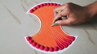 Very easy and quick rangoli using bangles | Top Beautiful Easy Rangoli Lid से आप भी बना लेंगे-
