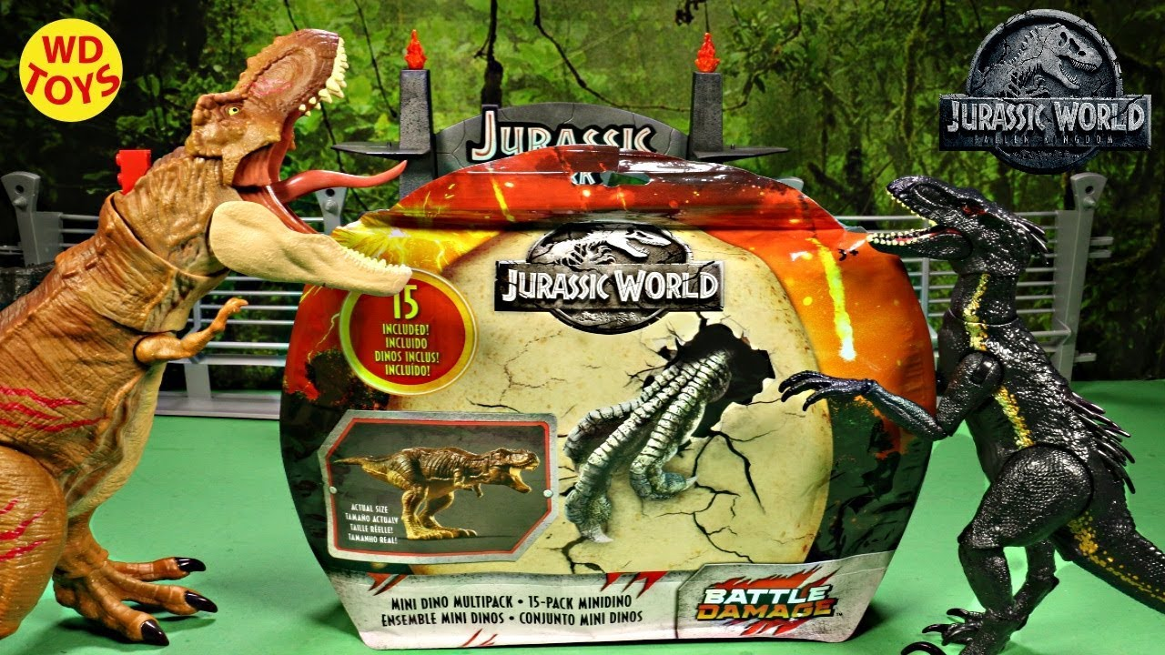 Walmart Dinosaur Toys : New jurassic world mini dino multipack battle damage