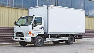 Hyundai HD 78 изотермический фургон с выдвижной лестницей